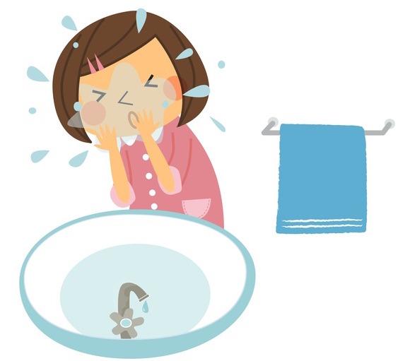 乾燥肌対策の間違った洗顔