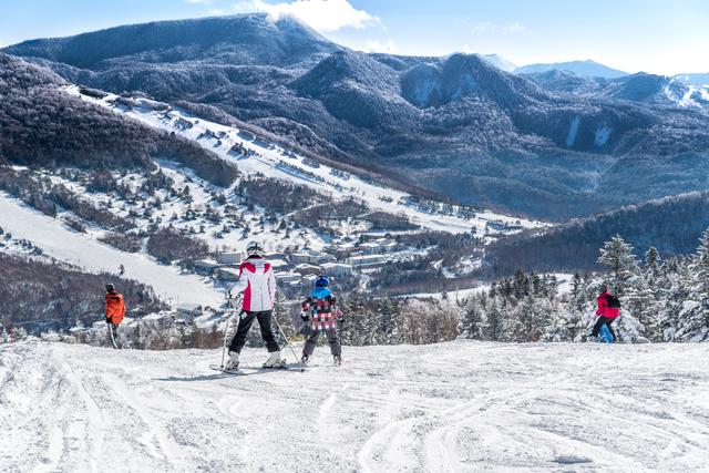 スキーの日焼け